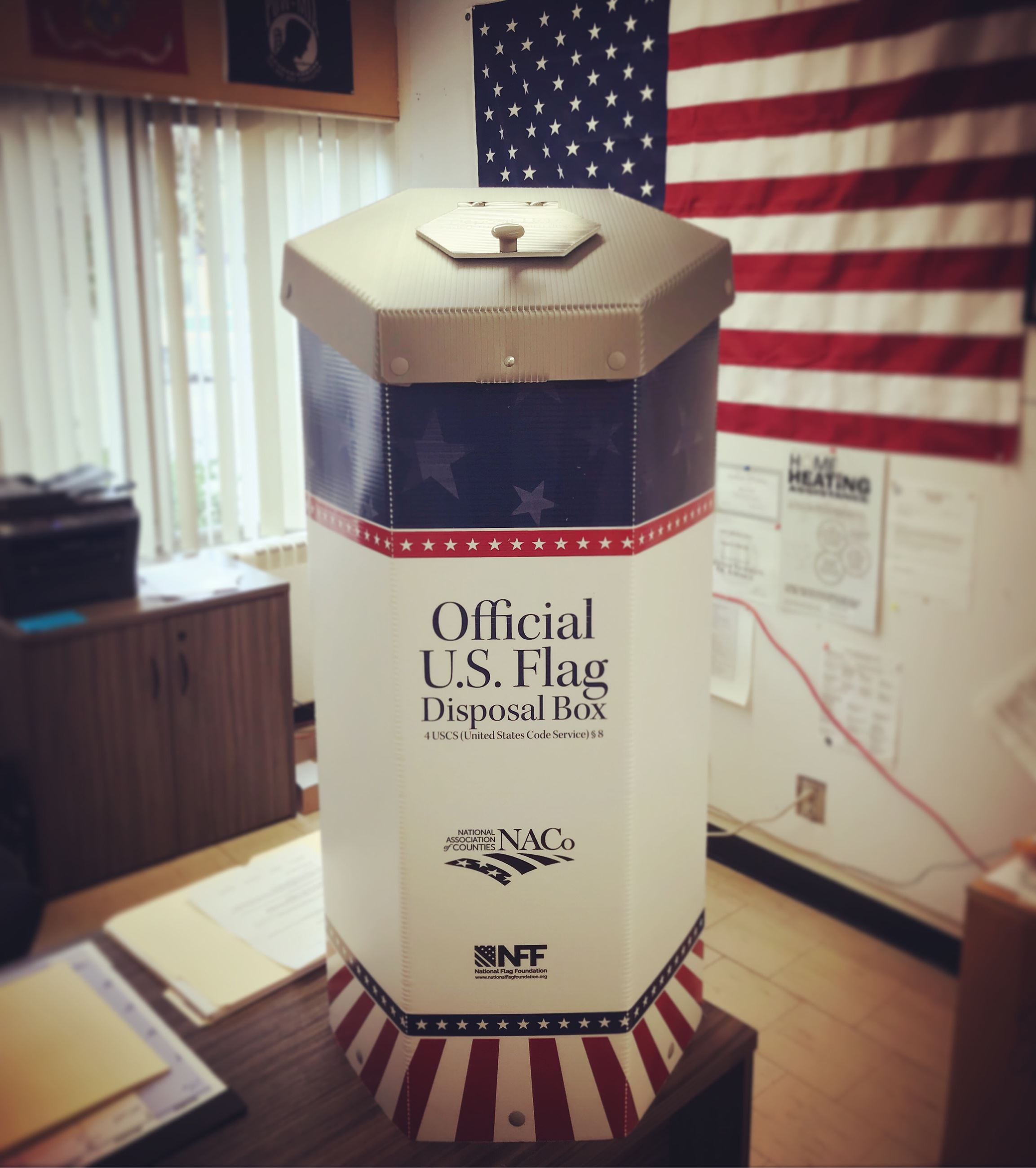 Flag Disposal Box
